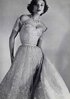 Chanel evening gown 1954. Bring back the evening gown!