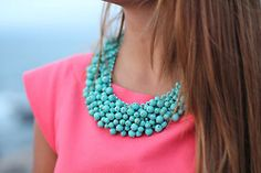 Really loving these statement necklaces...need to expand my collection!!