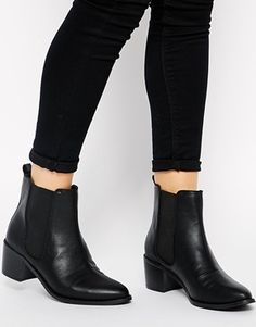Buy ASOS ROAR Chelsea Ankle Boots at ASOS. Get the latest trends with ASOS now. Heeled Boots, Bootie Boots, Shoe Boots, Buy Boots, Women's Boots, Looks Pinterest, Chelsea Ankle Boots, Flat Leather Ankle Boots, Low Heel Ankle Boots