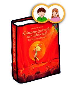 """""""¡Cómo me gustaría ser diferente!"""" Michael Scholber. Es un libro sorprendente y divertido que nos gusta mucho volver a ver y que nos da pie para preguntarnos, a nosotros mismos y a nuestros hijos, ¿cómo nos gustaría ser?"""