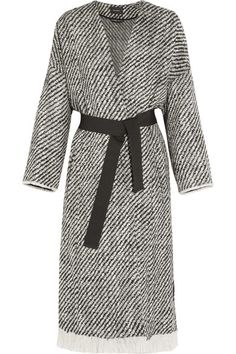 Isabel Marant | Iban fringed wool-blend tweed coat | NET-A-PORTER.COM