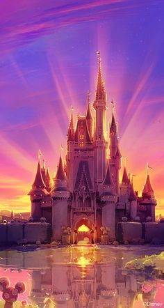 beautiful, castle, and mickey mouse, disney