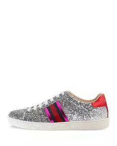 New Ace Glitter Low-Top Sneaker