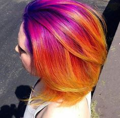 Colorful Sunset Hair