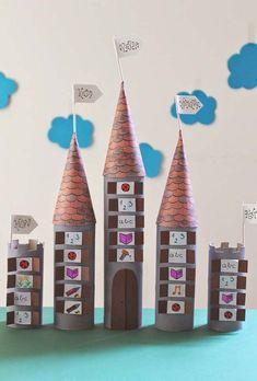 Artesanato com rolo de papel para montar castelo Kids Crafts, Arts And Crafts, Classroom Organization, Classroom Decor, Toilet Paper Roll, Advent Calendar, Homeschool, Holiday Decor, Blog