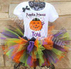 Pumpkin Princess Halloween Tutu Outfit