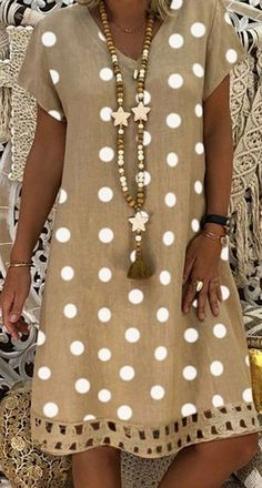 Hot Sale> Up to OFF, Summer Casual Dress for Daily & Holiday Outfit - Summer Dresses Polka Dot Summer Dresses, Casual Summer Dresses, Summer Dresses For Women, Casual Outfits, Cute Outfits, Fast Fashion Brands, Daily Dress, Vintage Style Dresses, Vintage Dress