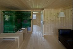 Ruch & Partner Architekten - Eugst farmhouse addition and renovation (originally built in Appenzell Photos © Filippo Simonetti. Farmhouse Addition, Wood Interiors, Architecture, Building, Farmers, Spaces, Detail, Photos, Chalets