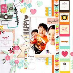 Colorful Days: Kaisercraft DT work<Happy Snapsシリーズ>