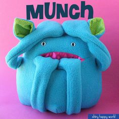 Munch - a softie pattern for a monster with a pocket mouth - $8.99