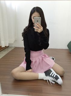 Image via We Heart It #girl #skirt #style #sweater
