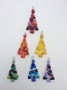 Hey, I found this really awesome Etsy listing at https://www.etsy.com/listing/533152272/set-of-6-rainbow-fused-glass-christmas