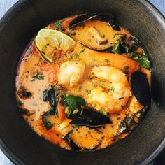 If the words 'luscious' and 'seafood' appeal to you, you'll love my spin on this dish, which sounds really rich but is actually quite healthful. This Thai Curry Seafood Soup…