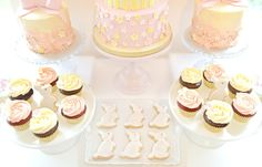 Pink and Cream Bunny Rabbit Themed Birthday Party Cookies London Cherie Kelly at Reigate Hill Golf Club Surrey