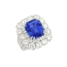 Platinum, Sapphire and Diamond Ring, David Webb