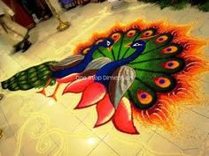 ONE STOP DIMENSION: ONE STOP DIMENSION: Floor Art @ Kolam