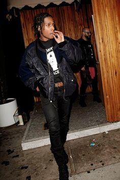 Asap Rocky Fashion, Fashion Killa, Mens Fashion, Lord Pretty Flacko, Gangster, Style Masculin, A$ap Rocky, Basket Mode, Street Style