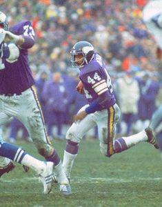 chuck forman vikings | When Chuck Foreman and the Minnesota Vikings played outdoors at the ...