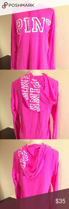 Victoria's Secret PINK Logo Hoodie T-Shirt - NWT Victoria's Secret PINK Logo Hoodie T-Shirt - NWT Size: Small Show your PINK love in style! It's super comfy with 100% cotton material and long sleeves. It's finished with the PINK logo on the front, front pocket, and the PINK logo on the hood. 0667543639687 PINK Victoria's Secret Tops Sweatshirts & Hoodies