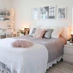 """6,468 curtidas, 39 comentários - Carina (@mrscarlissa) no Instagram: """"[INSPIRATION] Lovely bedroom by sweet @malinhomelife This is really a beautiful and romantic…"""""""