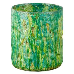 Stoneware and glaze cylinder by Morten Løbner Esperson