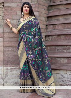 b82abec5ec67d Alluring Navy Blue Color Festive Wear Fancy Saree With Weaving Work  blue   sarees