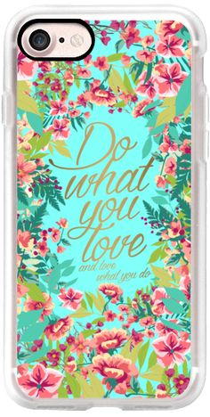 Casetify iPhone 7 Classic Snap ケース - Do what you love...in bloom by maria kritzas #Casetify
