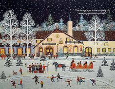 A Song for the Season by Jane Wooster Scott ~ Christmas carolers ~ ice skaters