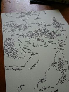 """the-infamous-eel:  """" Second draft of a new map. Intended for use with a novel I'm currently attempting to write, but i may use it for my next campaign as well.  """""""