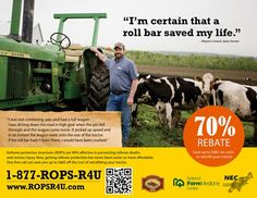 National Farm Medicine Center offers 70% off the cost of a tractor roll bar in Wisconsin up to $865. For more information see: http://www3.marshfieldclinic.org/nfmc/?page=nfmc_resources_rops_rebate