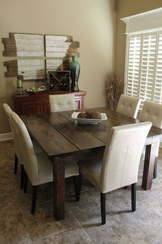 Farmhouse table square house plans 19 ideas for 2019 Farmhouse Table With Bench, Farmhouse Kitchen Tables, Kitchen Chairs, Dining Room Table, Table Bench, Modern Farmhouse, Kitchen Furniture, Farmhouse Style, Square Kitchen Tables