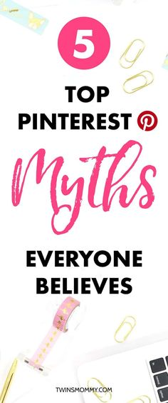 OMG! Do you believe these Pinterest myths? Figuring out the right Pinterest tips can be a challenge if you're a brand new Pinner. Learn the top myths so that you can start growing your blog traffic using Pinterest marketing tips.