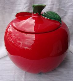 50s Red Apple Cookie Jar.