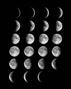 Phases of the moon Watercolor moon, Art inspiration