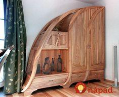 Unique furniture designs by Piotr Wojtanowski - cherry wood Unusual Furniture, Shelf Furniture, Funky Furniture, Wood Furniture, Furniture Design, Wooden Projects, Wooden Art, Bed Design, Home Goods