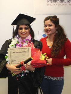 Samjhana and Anisha. Congratulations to Samjhana on winning an excellence award.