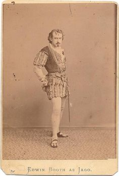 Cabinet Card of the actor EDWIN BOOTH as Iago