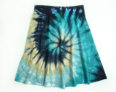 Ladies Tie Dye Skirt A Line Womens Cotton by SunflowerTieDyes, $30.00