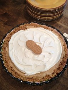 Nutter Butter Pie - Easy frozen peanut butter pie.  YUM!