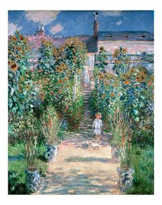 Framed Canvas Print: The Artist's Garden at Vetheuil by Claude Monet : French Impressionist Painters, Impressionist Paintings, Landscape Paintings, Art Paintings, Claude Monet, Monet Garden, Camera Art, Paul Gauguin, Classical Art