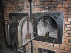 Crematorium adjacent to the gas chamber in Auschwitz.