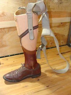 Vintage Medical Prosthetic Men's Lower Leg with by 9MilesOfWonder. $295.00, via Etsy.