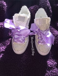 A personal favorite from my Etsy shop https://www.etsy.com/listing/271604581/white-wedding-converse-with-your-choice