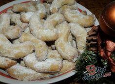 Kokosové vanilkové rohlíčky | NejRecept.cz Holidays And Events, Shrimp, Food And Drink, Cookies, Meat, Desserts, Festive, Biscuits, Beef