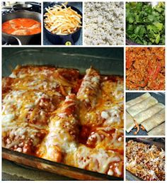 Cheesy Easy Chicken Enchiladas