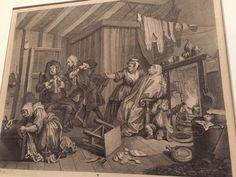 "William Hogarth, ""The Harlot's Progress (plate 5),"" 1732, Seattle Museum of Art"