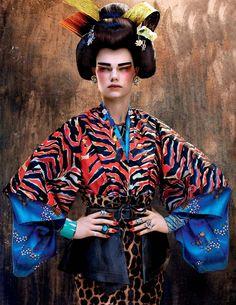 Kelly Mittendorf by Sebastian Mader (August 2012) - Oriental Inspired Editorials - Themed Editorials - Women`s Fashion Editorials - Fashion Editorials - All about fashion