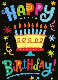 Birthday quotes, greetings and birthday wishes best collection to say happy birthday to your friends, family and love ones to show your love and care for them. Birthday Clips, Birthday Posts, Birthday Fun, Colorful Birthday, Birthday Cake, Birthday Ideas, Rainbow Birthday, Happy Birthday Pictures, Happy Birthday Quotes