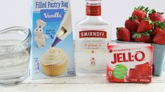 These Santa Hat Holiday Jello Shots are sure to bring smiles to every face twice – once when they see the little hats, and once when they gulp them down. Family Fresh Meals, Vanilla Frosting, Jello Shots, Smirnoff, Santa Hat, Strawberries, Vodka, Holiday, Christmas