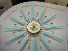 Vintage Elgin Wall Clock Mid Century Starburst Sunburst Eames Atomic Era No | eBay